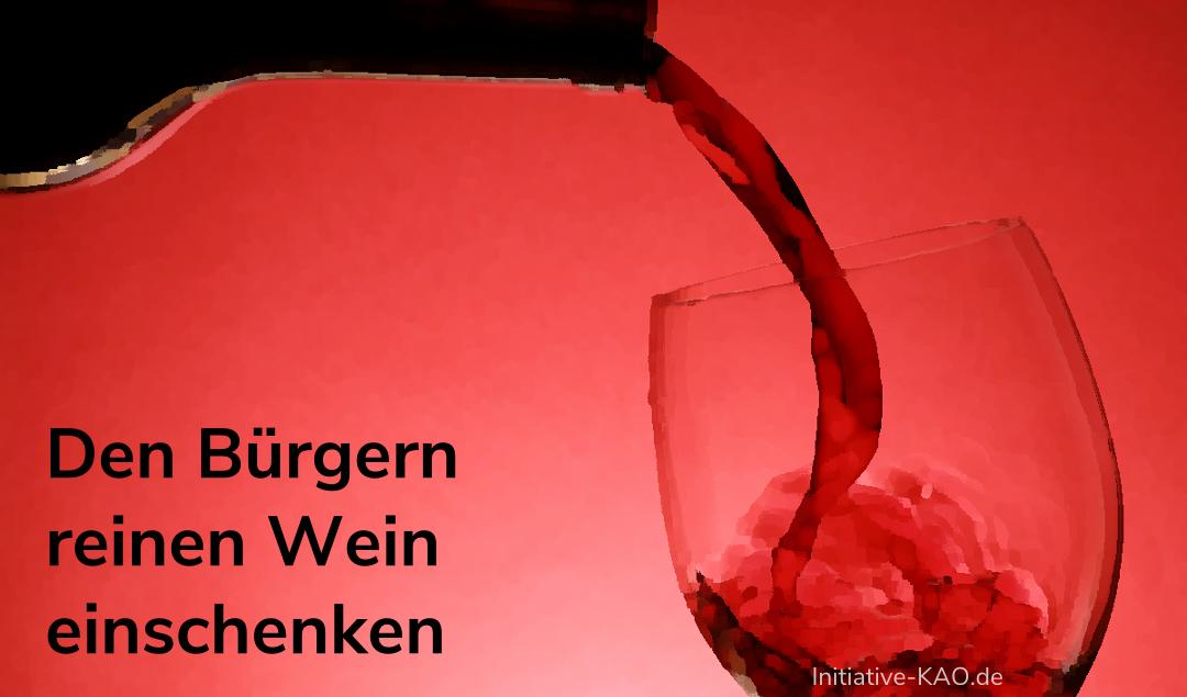 Organspende - Den Bürgern reinen Wein einschenken